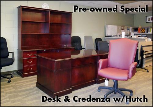 Veneer Desk & Credenza