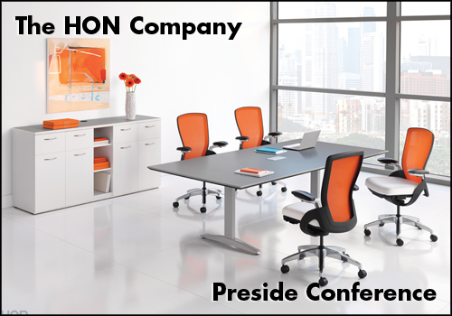 HON Preside Conference Tables with Ceres Seating