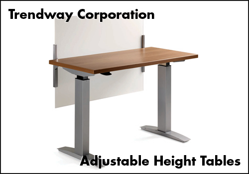 Trendway Adjustable Height Tables
