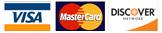 Visa, Master Card, Discover, American Express